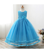 Cute Tulle Blue Color Party Wear Gown for Girls - $52.99+