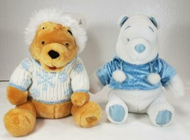 Winnie the Pooh Plush Snowflake Bears, one White Disney Store - $24.99
