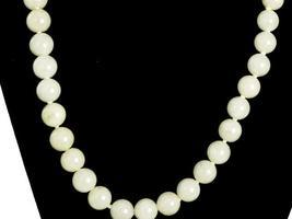 """Vintage Pale Green Quartz Bead Necklace 14K Clasp 20"""" - $149.00"""