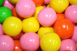 Gumballs Bubblebrights Neon Bubble Gum 25mm Or 1 Inch (57 Count), 1LB - $14.69