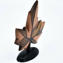 Northwoods Handmade Wooden Parquetry Canadian Maple Leaf Sculpture Figurine image 5