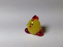 Miniature Glass Cute Yellow Chick Handmade Blown Glass Made USA - $39.99