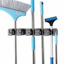JIAHAI Mop Broom Holder Garden Tools Wall Mounted Commercial Organizer S... - $10.92