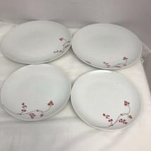 "Gourmet Basics by MIKASA Red Berries 2Dinner Plates  10-1/2"" 2 Salaad 8 "" - $39.60"