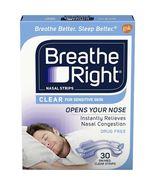 Breathe Right Nasal Strips for Sensitive Skin 30 SM/MED Clear Strips - $8.95
