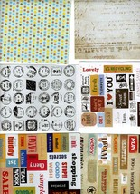 6 mixed sheets of peel off stickers  6 sheets, ideal cards, papercraft, displays