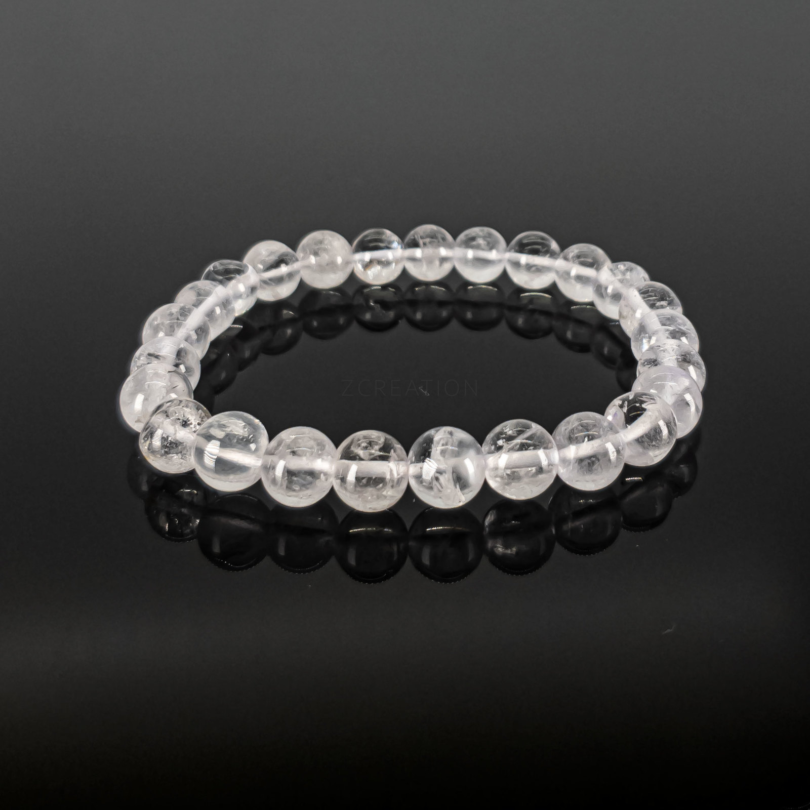 Primary image for Clear Quartz Round Bead Stretchable Bracelets