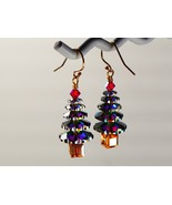 Swarovski Christmas Tree Earrings/Green / Swarovski Elements/ 14k Gold F... - $21.95+