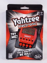 Hasbro A2125 Yahtzee Handheld Electronic Dice Game 2012 Red Black Damage... - $12.86