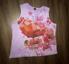 Basic Editions Purple Splatter Pattern Size 3X Sleeveless Shirt Blouse F... - $9.90