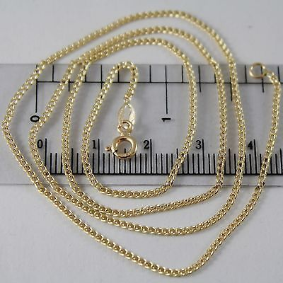 18K YELLOW GOLD CHAIN MINI GOURMETTE LINK 1 MM, 19.70 INCHES MADE IN ITALY