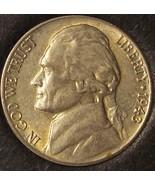 1943-D Wartime Silver Jefferson Nickel AU #0028 - $4.59