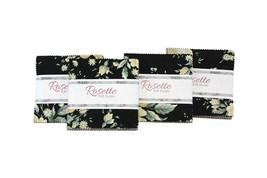 Rosette Rose Floral~ Charm Pack 42, 5'' Cotton Squares -by RJR - $10.40