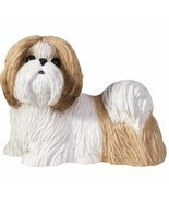 Sandicast Sculpture: Gold and White Shih Tzu, Standing, Small Size (SS16409) - $28.49
