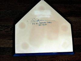 ROD CAREW MINNESOTA TWINS ANGELS HOF SIGNED AUTO USED HOME PLATE 100% AU... - $494.99
