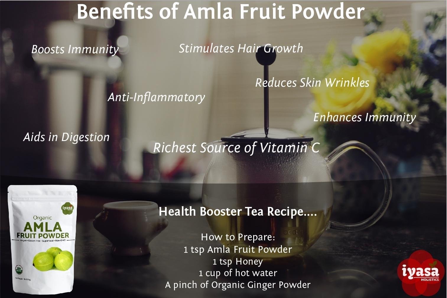 Organic Amla Fruit Powder,Amalaki Berry,Indian Gooseberry,Premium Quality,4,8 oz image 3