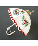 Vintage Bank Umbrella Butterflies and Bows Ceramic  - $40.00