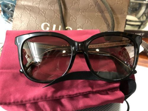 ed3b1377fdec4 New Authentic GUCCI GG0082SK 003 Havana Sunglasses Brown Gradient ...
