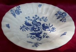 ROYAL WORCESTER BLUE SPRAYS FRUIT/DESSERT BOWL S FLORAL - $25.24