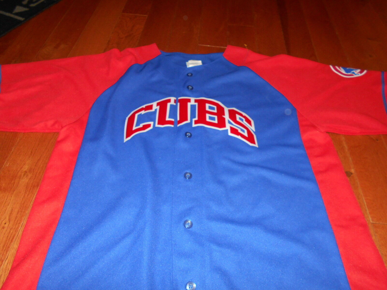 CHICAGO CUBS ALFONSO SORIANO Blue & Red Baseball MLB ROAD Large L JERSEY Officia