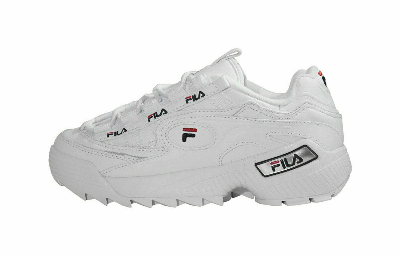 Primary image for Fila Women's D-Formation Sneakers 5CM00514-125 - White/Navy/Red