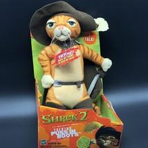 Shrek 2 Talking Puss In Boots Cat Plush Doll NIB Hasbro - $34.65