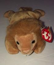 Ty Beanie Baby Roary the Lion DOB 2-20-96 w/tags - $3.14
