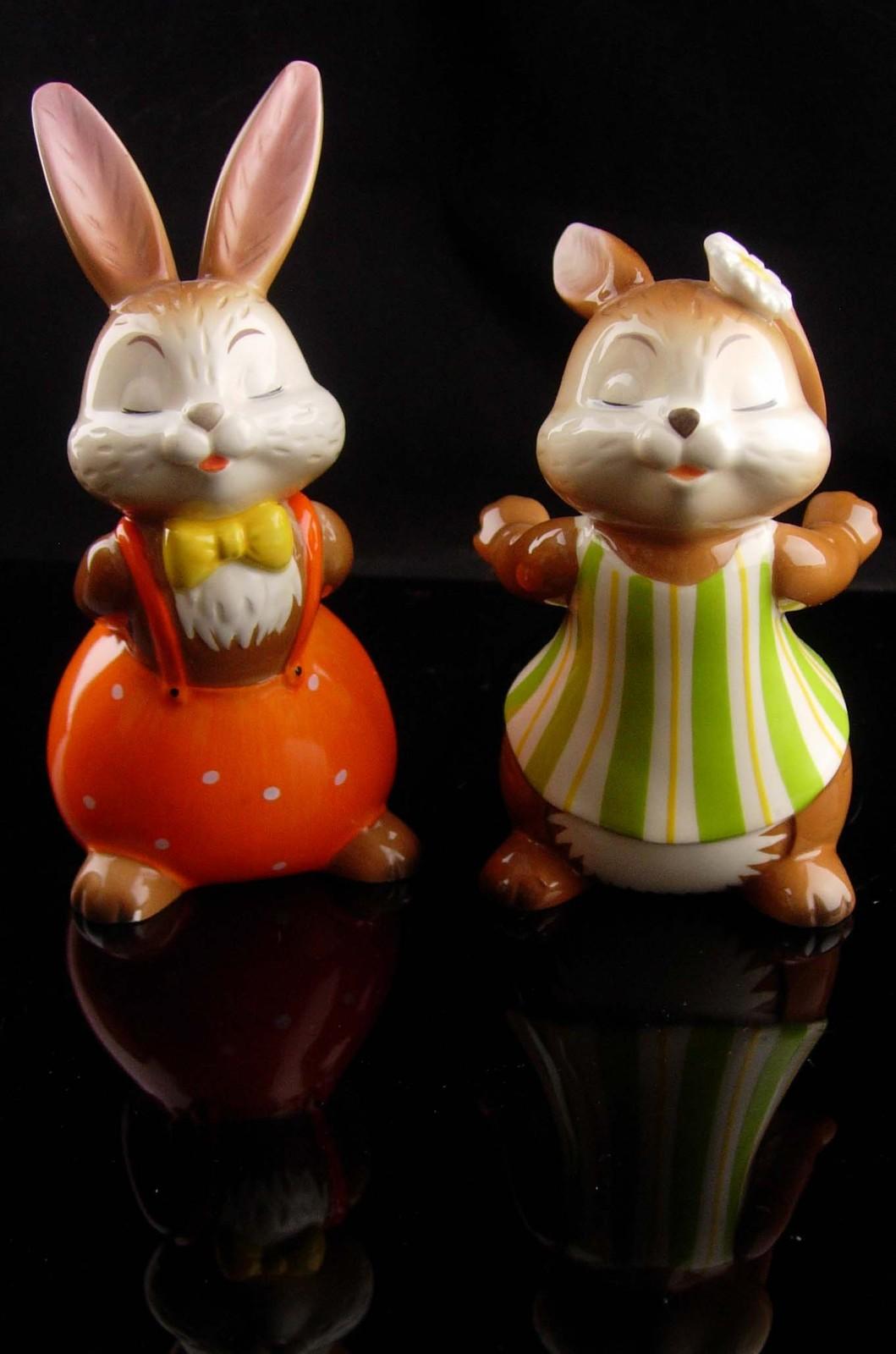 Vintage kissing bunny goebel - new mom gift - mothers day gift - german figurine image 5
