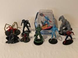 Marvel Disney Action Figures Lot of 9 Display Figures with Stands Spiderman - $44.99