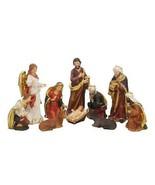 Zayton Statue Nativity Scene Set Christmas Crib Figurines Baby Jesus Man... - $69.30