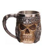 Panda Legends Skull Tankard Coffee Mug Cup Cool Stainless Steel Tea Mug ... - $32.00
