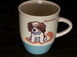 CAVALIER Dog Coffee Mug Tea Cup Ceramic Porcelain Glass Figurine DNC Col... - $6.78