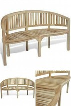 Large Wooden Patio Bench 3 Seater Garden Outdoor Seating Furniture Lawn ... - $223.09