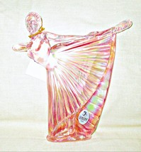Fenton Pink Art Glass Ballerina with Tag - $39.00