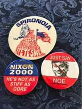 Lot of 18 Political Buttons Pinback Nixon Johnson Obama Carter Dole Bush Agnew image 12