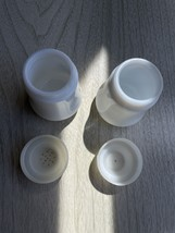 Pair of Vintage London Milk Glass Salt and Pepper Shakers image 7