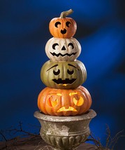 "Bethany Lowe Designs Halloween ""Jack-O-Lantern Topiary"" Large Paper Mach... - $135.99"