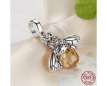 Ling silver orange dancing bee pendants fit bisaer bracelet necklace for women 303 thumb155 crop