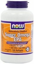 Now Foods Super Omega Epa Molecularly Distilled 120 Softgels, Non-GMO - $14.01
