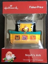 "2018 Hallmark Fisher Price Little People Noah's Ark Christmas Ornament 3"" L New - $17.81"
