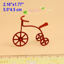 1/12 Scale Dollhouse Miniatures Model Red Bike Toy Bicycle/ Dollhouse ac... - $5.51
