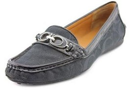 Womens Shoes Coach FORTUNATA 12 CM Signature Loafer Moccasin Black US 6.0 EU 36 - $80.14