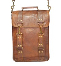 13 inches Handmade Genuine Leather Sturdy Leather Ipad Messenger Satchel... - $51.99