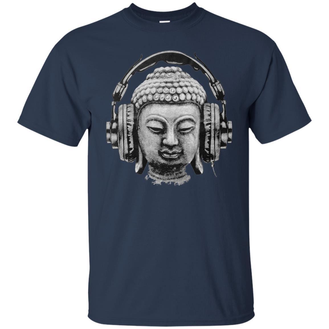 Buddha Banksy Headphones Quirky Street Art Graffiti Mens T Shirt Tee Top