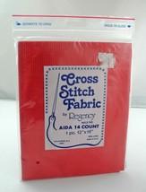 "Regency Mills 14 Count Aida Cross Stitch Fabric - Red 12"" x 18"" - 100% C... - $4.70"