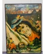 Vintage Jean Calogero Child Prints On Wood Set of 2 - $34.97