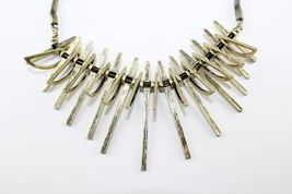 Vivi Love Cookie Lee Sun Ray Tribal Antique Gold Statement Necklace image 8