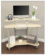 Calico Designs - Study Corner Desk - Silver/Maple - $370.45