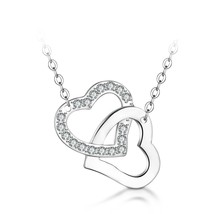 "Jewelers Sterling Silver ""Cross Heart"" Pendant Necklace, 17+2"" Love Gift - $45.12"