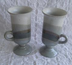 Set of 2 Otagiri Original Pedestal Irish Coffee Mugs Japan Handcrafted B... - $14.99